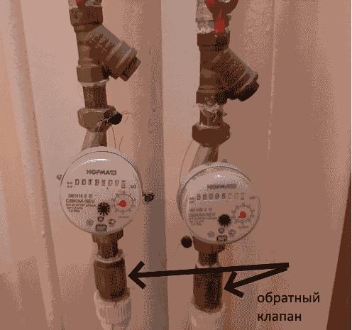 Зачем ужен обратный клапан на счетчик воды